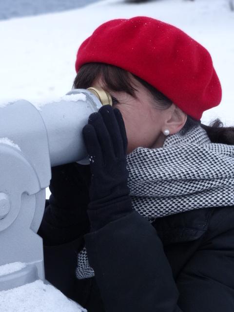 Schnee-Tegernsee-Fernglas
