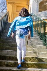 Blaue Tunika komplett-H