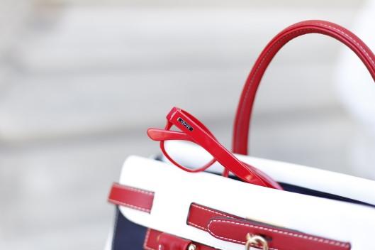 Maritimer Look - Brille - Tasche
