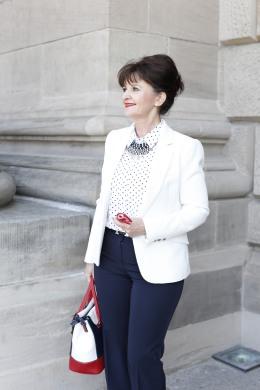 Business Look weißer Blazer - Bluse